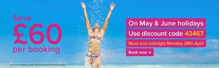 Save £60 with a weekend saving from First Choice Holidays