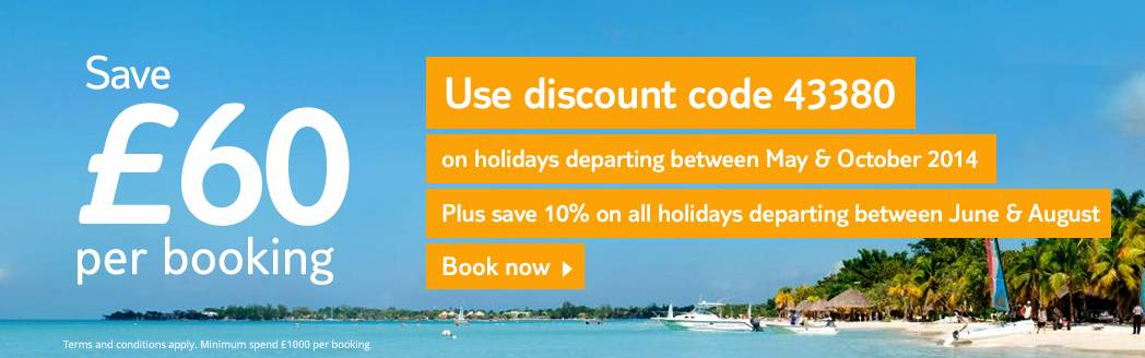 Save £60 off your next Thomson Holiday with a voucher code