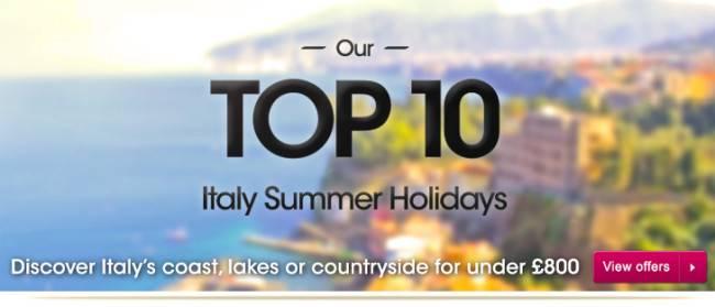 Citalia Italy holiday deals