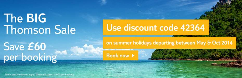 Thomson Holidays discount code 42364