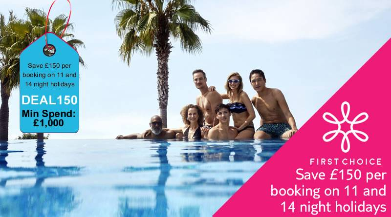 Mahoosive Flash Sale - First Choice Save £150 per booking on 11 and 14 night holidays