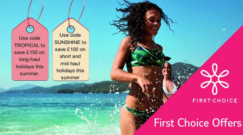 FIRST CHOICE Tropical and Sunshine voucher codes