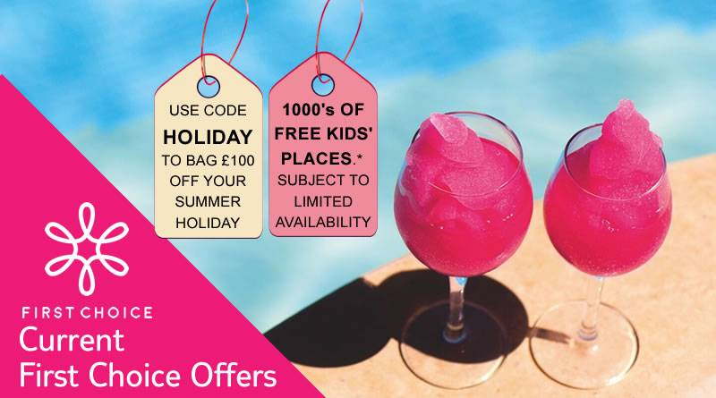 USE CODE HOLIDAY TO BAG £100 OFF YOUR SUMMER HOLIDAY