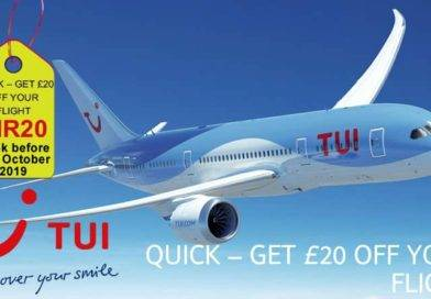 QUICK – GET £20 OFF YOUR TUI FLIGHT