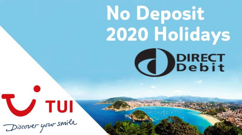 TUI no deposit 2020 holidays