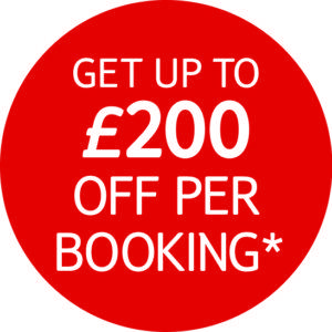 Get up to £200 off your booking with TUI