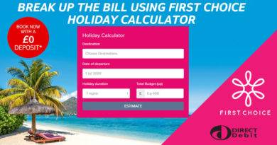 first choice holiday direct debit calculator