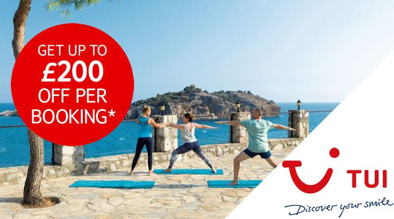 Get up to £200 off in the TUI Sale