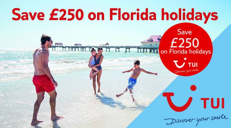 Save on Florida Holidays - up to £250 off per booking