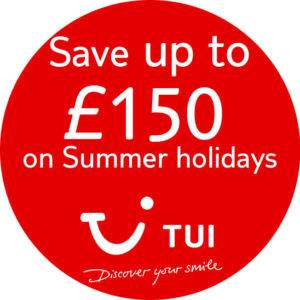 USE TUI CODE SUMMER TO GET UP TO £150 OFF YOUR SUMMER 2020 ESCAPE