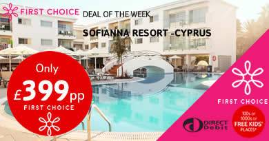 Sofianna Resort in Paphos Cyprus, First Choice deal of the week