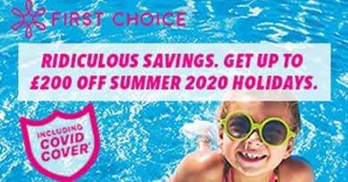 First Choice Sunshine code to get up to £200 off next holiday