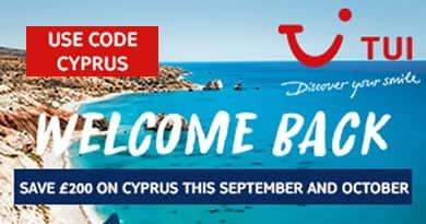 Save £200 extra on Cyprus holidays in September and October