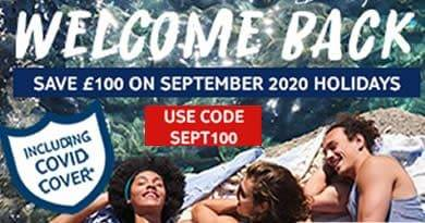 TUI September 2020 holiday code