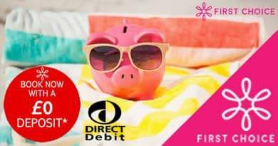 No deposit holidays with First Choice