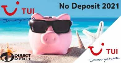 No Deposit holidays 2021