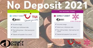 No deposit holidays from TUI and First Choice