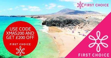 USE CODE XMAS200 AND GET £200 OFF Canary Island hols departing between 18th and 31st December 2020.