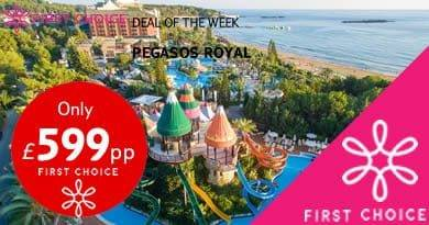 pegasos hotel in turkey, only £599 for 7 nights