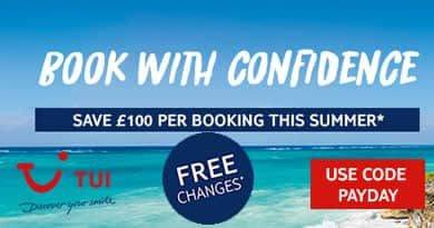 Payday deal from TUI